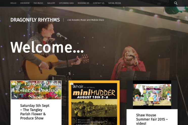 Dragonfly Rhythms' new-look web-site